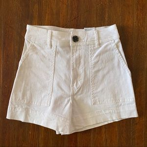 White High Rise H&M Shorts